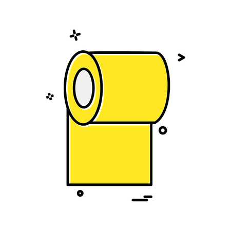 Toilet paper icon design vector Vectores