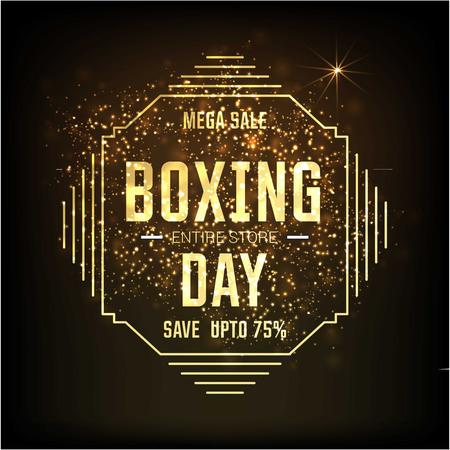 Carte de vente de boxe avec un design élégant Vecteurs