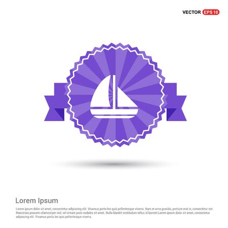 Boat Icon - Purple Ribbon banner