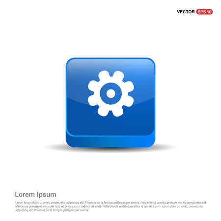 Setting Icon - 3d Blue Button.