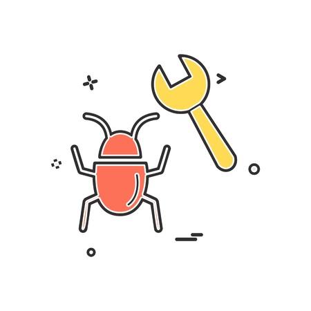 bug icon design vector 일러스트