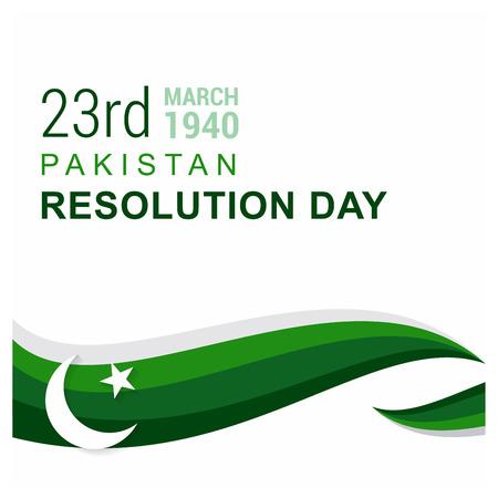 Pakistan Resolution day design vector Vektoros illusztráció