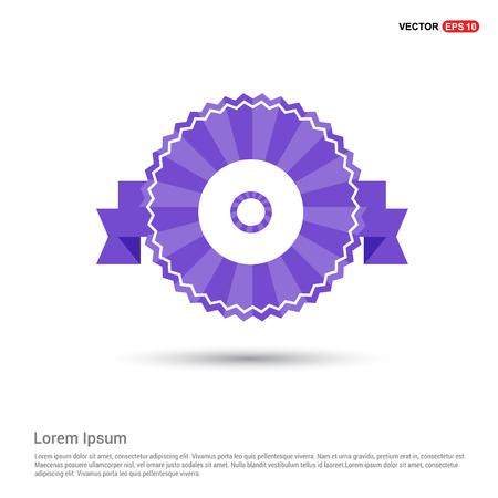 Cd disc icon - Purple Ribbon banner
