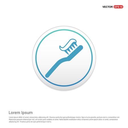 Toothbrush With Paste icon - white circle button