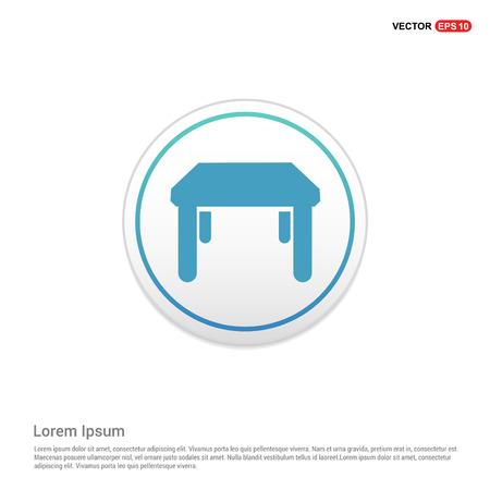 Table Icon - white circle button