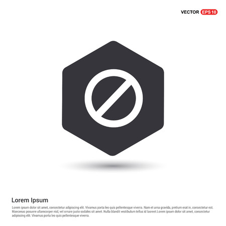 warning icon Hexa White Background icon template - Free vector icon