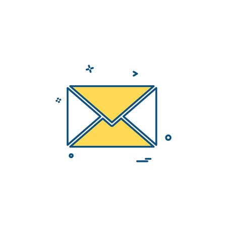 email sms mail icon vector