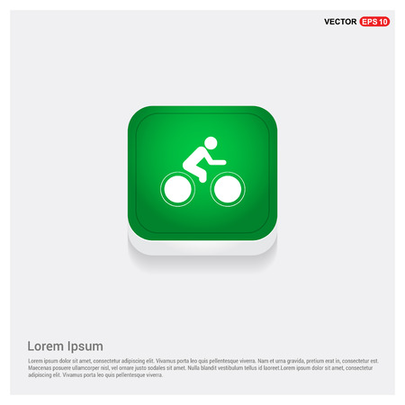Track Cycling Icon Illustration