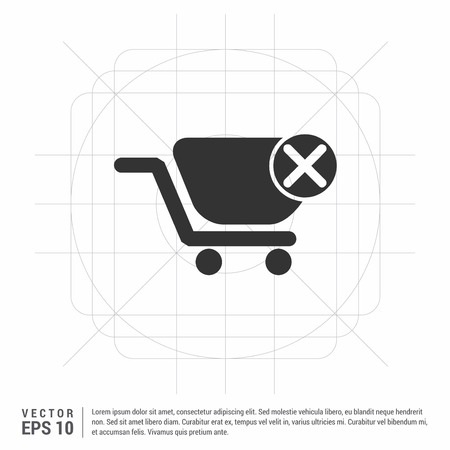 Shopping Cart and Delete Sign