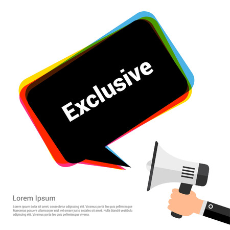 Chat bubble design with exclusive typographic design vector