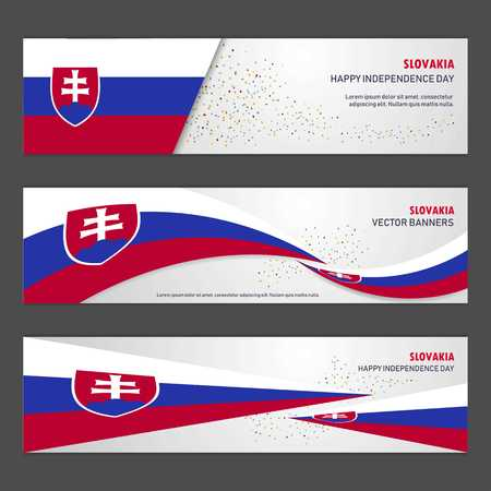 Slovakia independence day abstract background design banner and flyer, postcard, landscape, celebration vector illustration