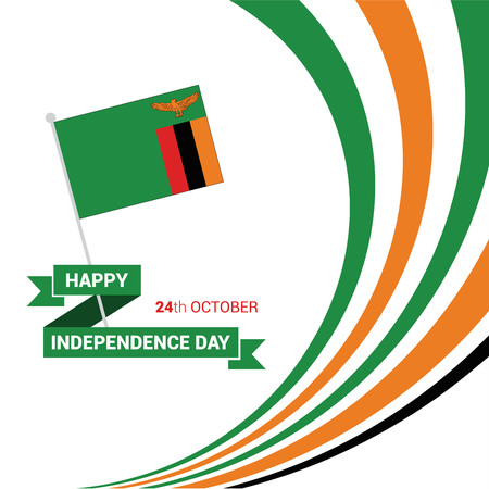 Zambia Independence day design card vector