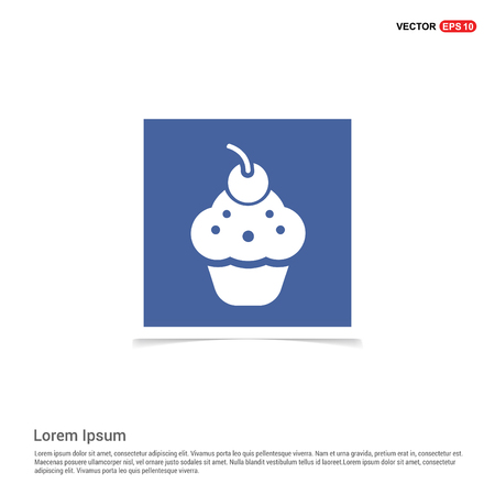 Ice cream icon - Blue photo Frame