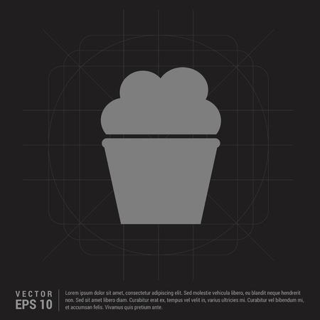 Popcorn exploding inside the packaging icon - Black Creative Background - Free vector icon