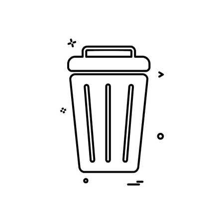 Dustbin icon design Vettoriali