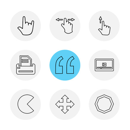 commas  , dot , slash , hands , pointer , arrows , directions , signs , ui , user  interface , technology , code , programming , icon, vector, design,  flat,  collection, style, creative,  icons