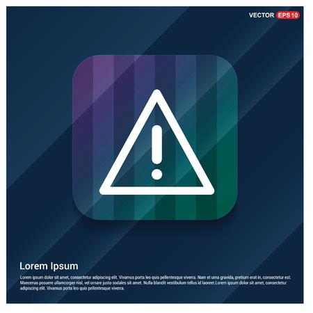 warning icon Vettoriali