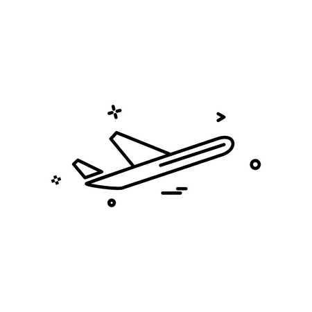 Aeroplane icon design vector