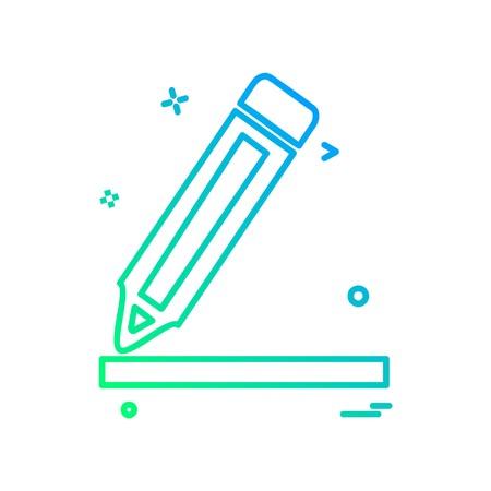 Pen icon design vector