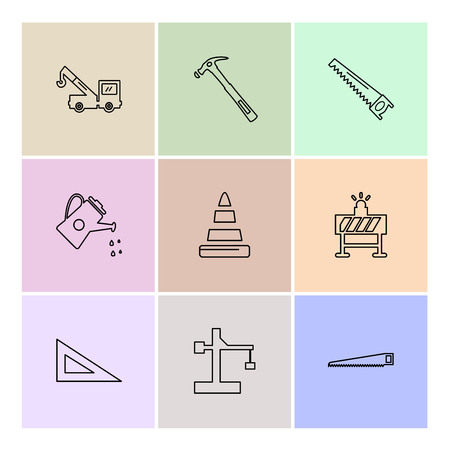 hardware , tools , constructions , labour , icon, vector, design, flat, collection, style, creative, icons , wrench , work , crane , cone , water shower ,
