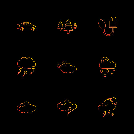 car , tree , thunder  , ecology , sun , cloud , rain , weather , icon, vector, design,  flat,  collection, style, creative,  icons , sky , pointer , mouse , tree , enviroment , cloudy,icon, vector, design,  flat,  collection, style, creative,  icons