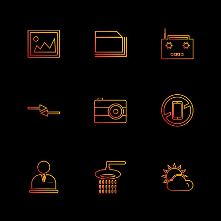 multimedia , camera , user interface , folders , directory , icon, vector, design,  flat,  collection, style, creative,  icons , play , pause , ui , camera ,  camcoder , Illustration