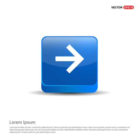 Siguiente icono de flecha - botón azul 3d.