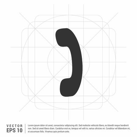 Phone receiver icon.