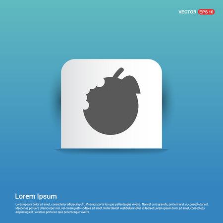 Apple fruit icon - Blue Sticker button Stock Vector - 118323200