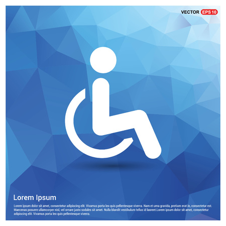 Disabled person icon Illustration