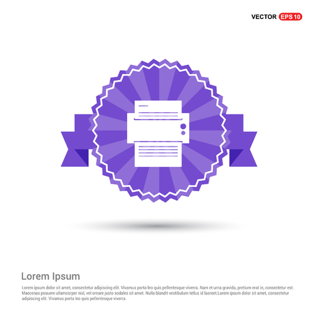 Printer icon - Purple Ribbon banner