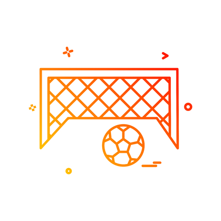 football goal net icon vector design