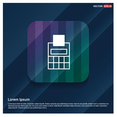 Business calculator icon - Free vector icon Illustration