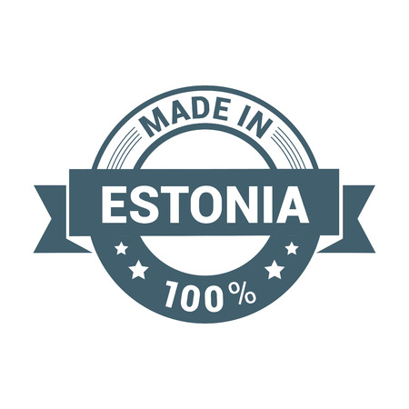 Estonia stamp design vector