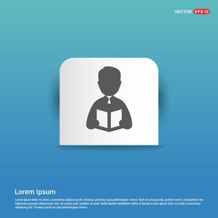 student icon - Blue Sticker button