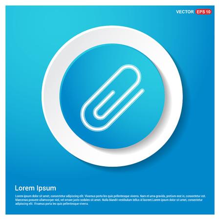 Attach paper clip icon Stock Vector - 118323874