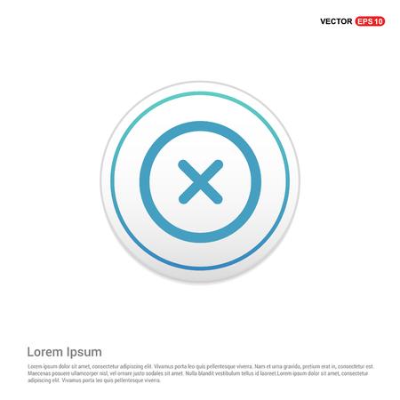 Multiply Math icon - white circle button Stock Vector - 114154396