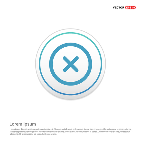 Multiply Math icon - white circle button