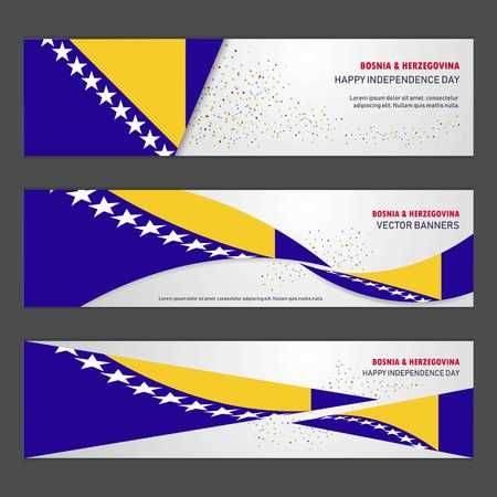 Bosnia and Herzegovina independence day abstract background design banner and flyer, postcard, landscape, celebration vector illustration