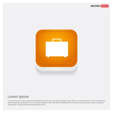 Bag icon Orange Abstract Web Button - Free vector icon