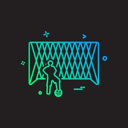 Football icon design vector Illustration