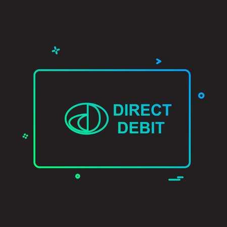 Direct Debit card design vector