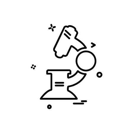 Microscope icon design vector