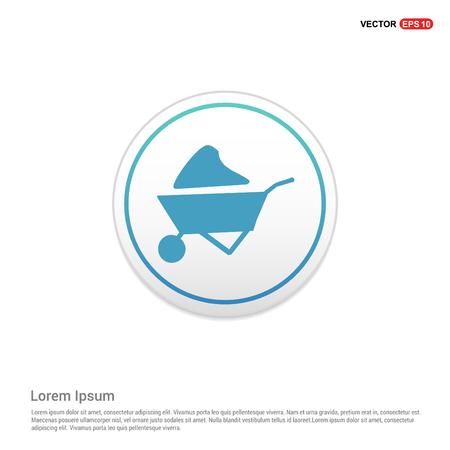 Loader icon - white circle button