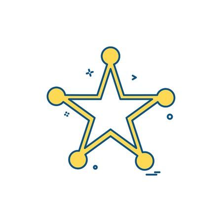 badge police award law icon vector design Illusztráció
