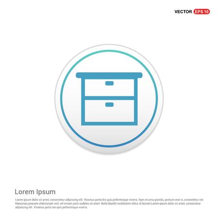 Cupboard Icon - white circle button