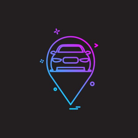 Car Workshop icon design vector