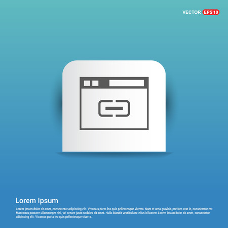Interface Icon - Blue Sticker button