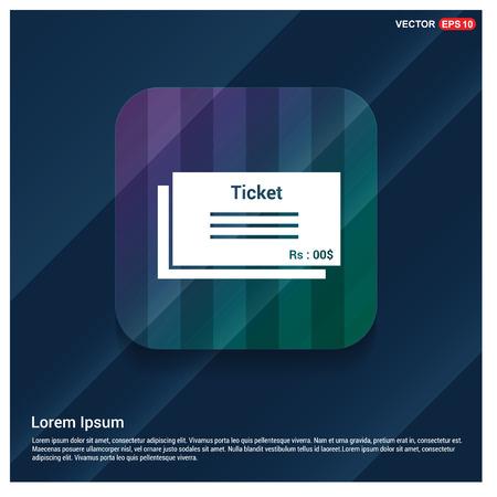 ticket icon Banco de Imagens - 118324813