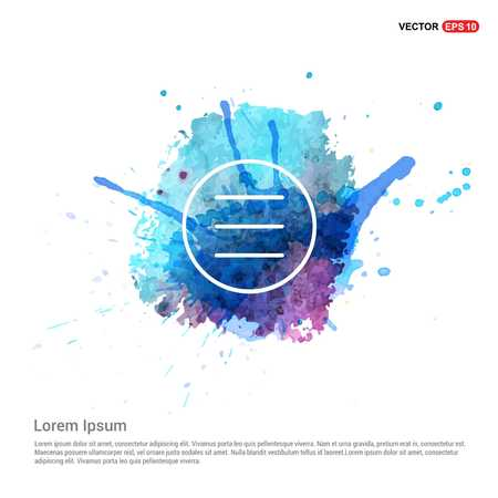 Align text icon - Watercolor Background
